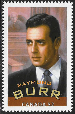 Canada 2280d Used - Canadians in Hollywood - ‭Raymond Burr (1917-93)
