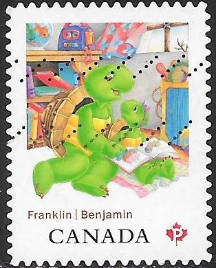 Canada 2543 Used - ‭Franklin the Turtle by Paulette Bourgeois - Franklin & Sister Harriet
