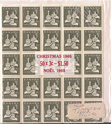 Canada 443a MNH - Pane of 25 x2 Packet - Christmas