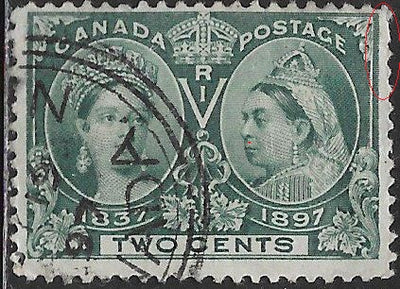 Canada 52 Used - Victoria Jubilee - Perf Issues