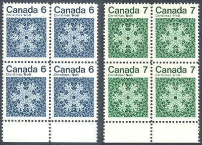 Canada 554-557 MNH - Block of 4 - Christmas