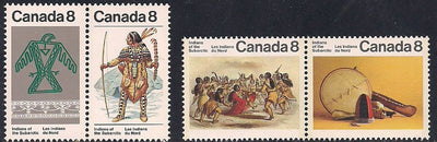 Canada 574-577 MNH - Indians of the Sub-Arctic
