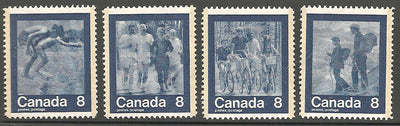 Canada 629-632 MNH - Pulled Perf on 632 - Sports