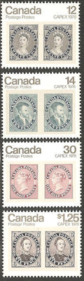 Canada 753-756A MNH - CAPEX 78 - Stamps on Stamps