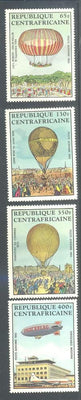 Central African Republic C282-286 MNH - Hot Air Balloons & Zeppelins
