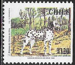 Chile 1232 Used - Dogs - Dalmatian