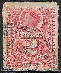 Chile 26 Used - Christopher Columbus