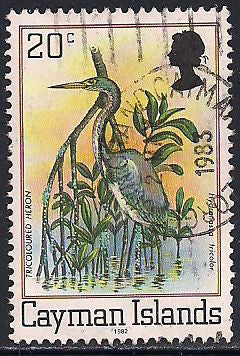 Cayman Islands 456a Used - Bird - Tricoulored Heron