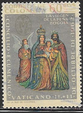 Colombia 750 Used - Vatican II - 21st Ecumenical Council