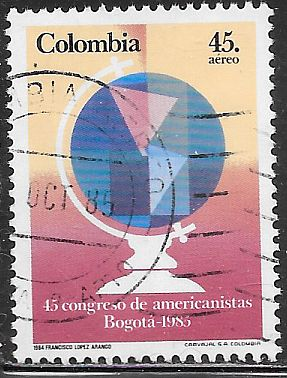 Colombia C745 Used - Congress of Americanists, Bogota