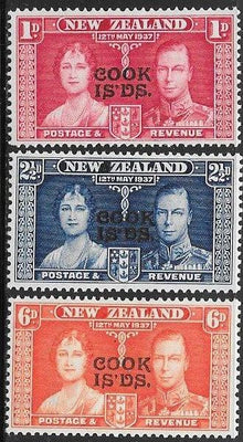 Cook Islands 109-111 Unused/Hinged - George VI Coronation