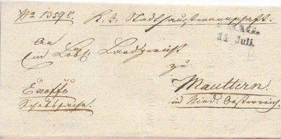 Czech Republic Stampless Cover - Prague - 1838