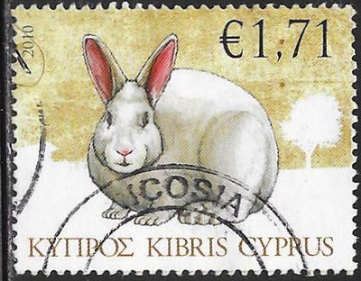 Cyprus 1133 Used - Barnyard Animals - Rabbit