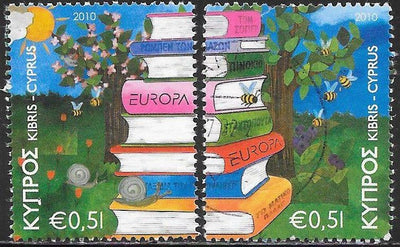 Cyprus 1134a-1134b Used - Europa - Stack of Books