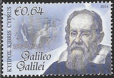 Cyprus 1209 Used - Famous Men - ‭Galileo Galilei (1564-1642), Astronomer