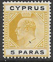 Cyprus 48 Unused/Hinged - Edward VII
