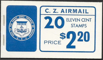 Canal Zone C49 MNH - Complete Booklet - Airplane