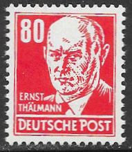 DDR 135 Unused/Hinged - Ernst Thalmann