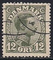 Denmark 101 Used - Facit 135b 17x20mm - Christian X