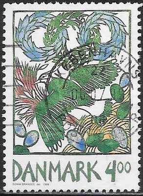 Denmark 1150 Used - ‭Harbingers of Spring - ‭Lapwing in Flight