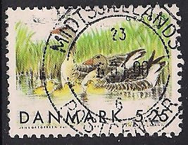 Denmark 1164 Used - Duck - Socked on the Nose