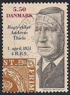 Denmark 1199 Used - Printer Andreas Thiele - Socked on the Nose