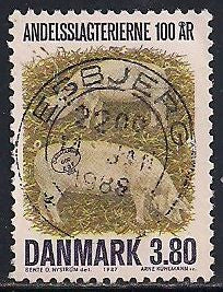 Denmark 841 Used - Bacon Factories - Socked on the Nose