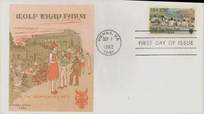 US 2018 FDC - Doris Gold Cachet - Wolf Trap Farm