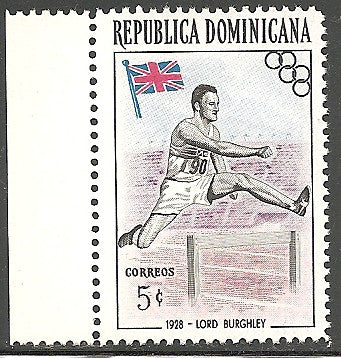 Dominican Republic 477 MNH - Color Error - Only 125 Known - Olympics