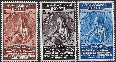 Egypt 217-219 MNH - Medal for Montreux Conference