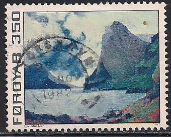 Faroe Islands 18 Used - Painting - ‭Vidoy and Svinoy, by Eyvindur Mohr