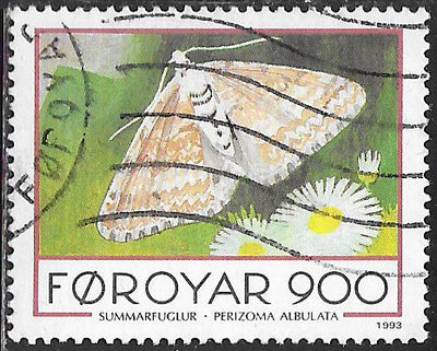 Faroe Islands 259 Used - ‭‭Butterflies & Moths - Moth - Grass Rivulet (‭Perizoma albulata )