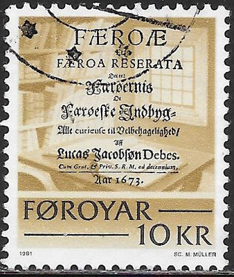Faroe Islands 69 Used - Historic Writings - ‭Title Page from Faeroae et Faeroa, by Lucas Jacobson Debes