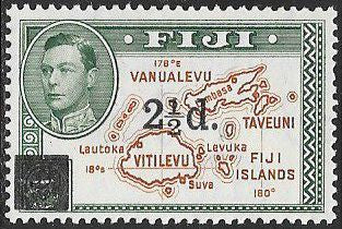 Fiji 136 Unused/Hinged - Map - George VI