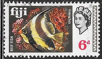 Fiji 245 Used - Fish - Reef Butterflyfish - Elizabeth II