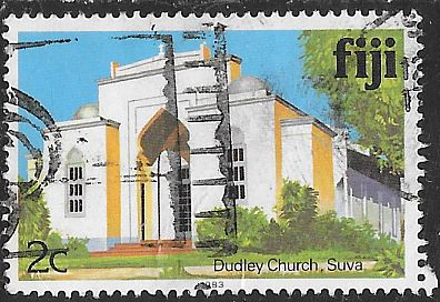 Fiji 410b Used - Dudley Church - Suva - 1983