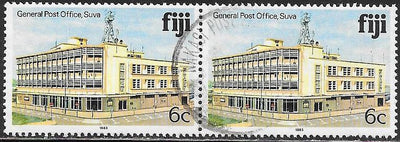Fiji 413a Used - Pair - General Post Office, Suva - 1983