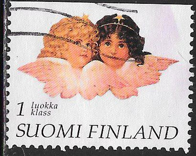 Finland 1026 Used - Greetings Stamps - 2 Angels