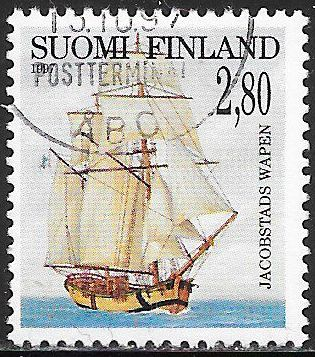 Finland 1043 Used - Sailing Ships - ‭Jacobstads Wapen