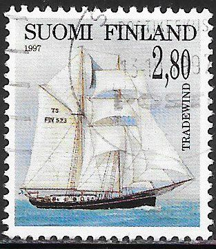 Finland 1044 Used - Sailing Ships - ‭Tradewind
