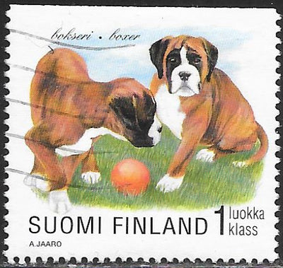 Finland 1081 Used - Puppies - Boxer