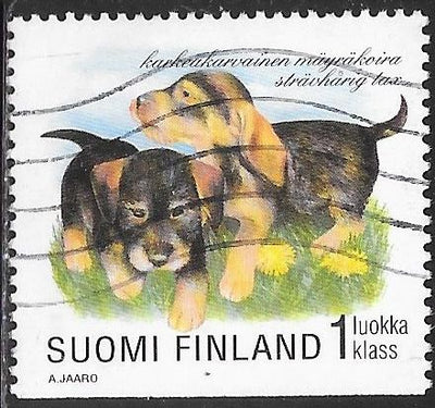 Finland 1084 Used - Puppies - ‭Wire-Haired Dachshund