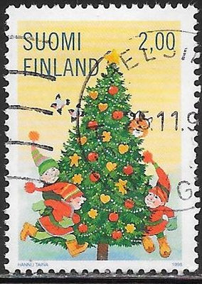 Finland 1095 Used - Christmas - Christmas Tree & Children