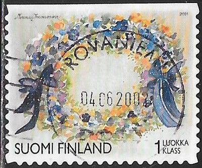 Finland 1149a Used - Valentine's Day - Oval Wreath