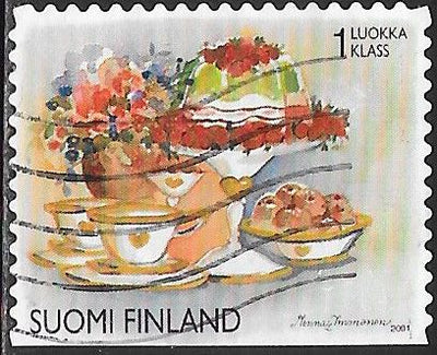 Finland 1149e Used - Valentine's Day - Flowers & Tea Set