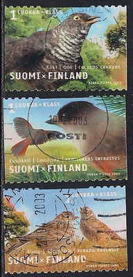 Finland 1184a-1184c Used - Birds - Socked on the Nose