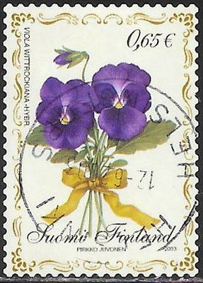 Finland 1188 Used - ‭ ‭‭Flowers - Viola Wittrockiana - Garden Pansy