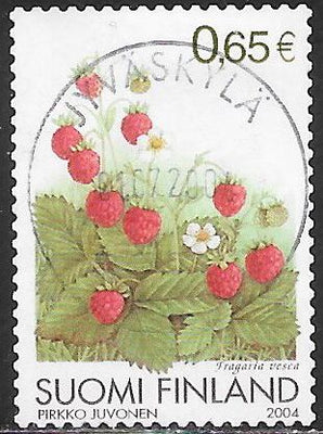 Finland 1215 Used - Flowers/Fruit - ‭Fragaria Vesca - Wild Strawberries
