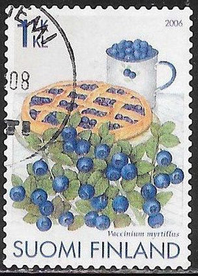 Finland 1267 Used - ‭‭Blueberries and Blueberry Pie