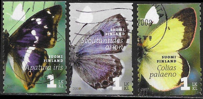 Finland 1296a-1296c Used - Butterflies